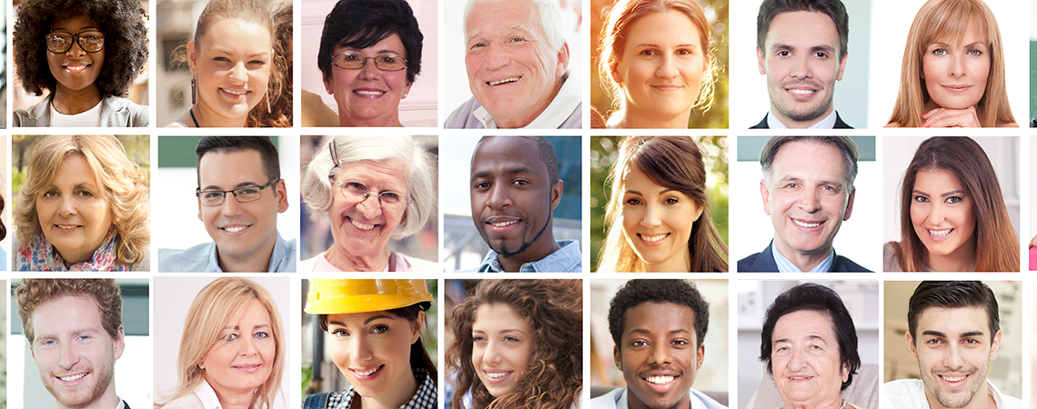 Group of diverse people representing employers