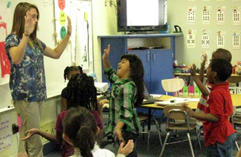 Bugg A+ teacher integrates movement