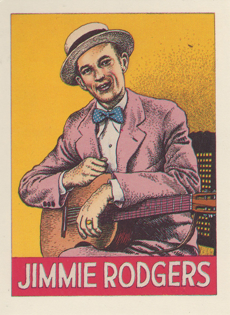 A drawing of Jimmie Rodgers