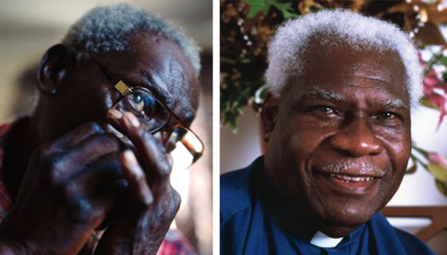 George Higgs (left) and Rev. F.C. Barnes