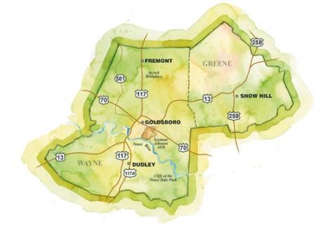 Goldsboro Region Map