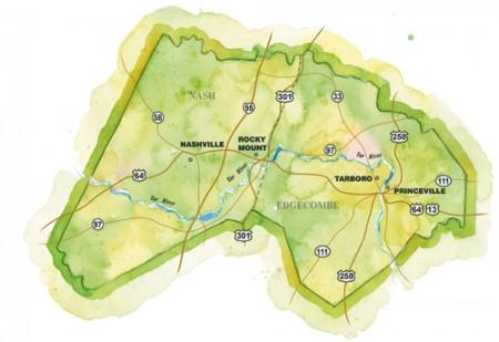Rocky Mount / Princeville / Tarboro Region Map