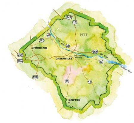Greenville Region Map