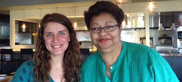 Chef Vivian Howard(left) with Bridgette Lacy