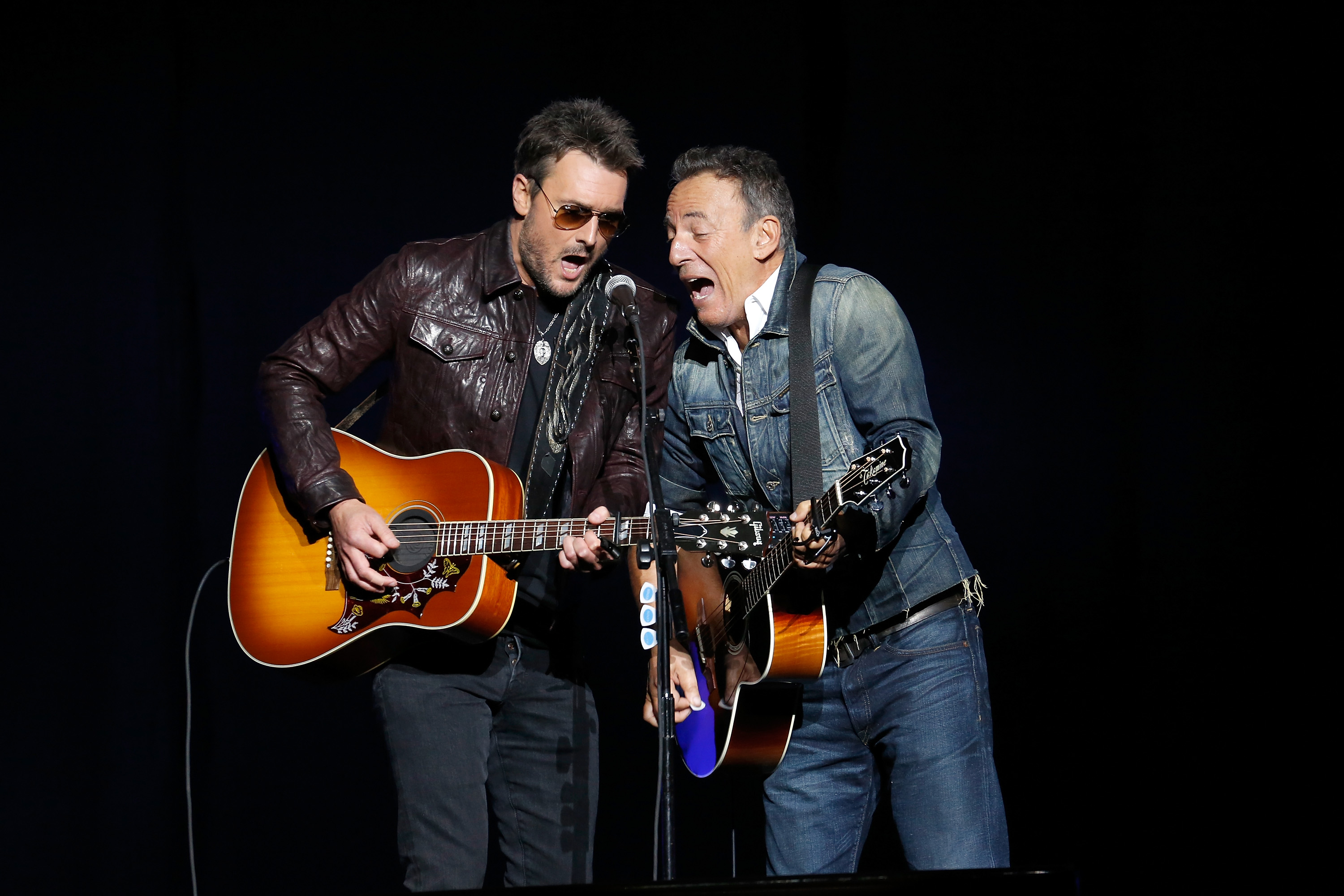 Eric Church and Bruce Springsteen | Photo From Rolling Stone