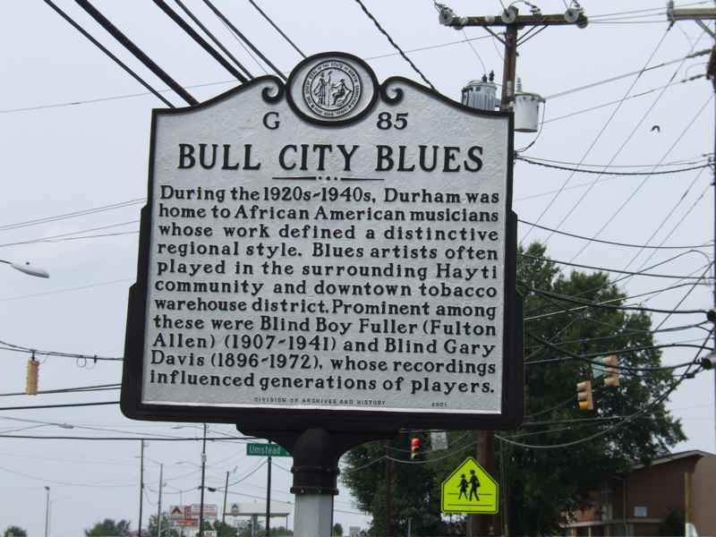 Bull City Blues Highway Marker