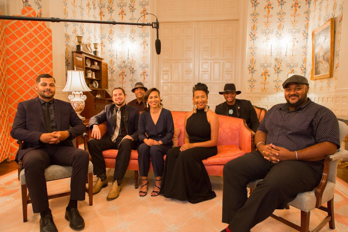 Charly Lowry and friends pictured at the N.C. Executive Mansion before thier Music at the Mansion Performance