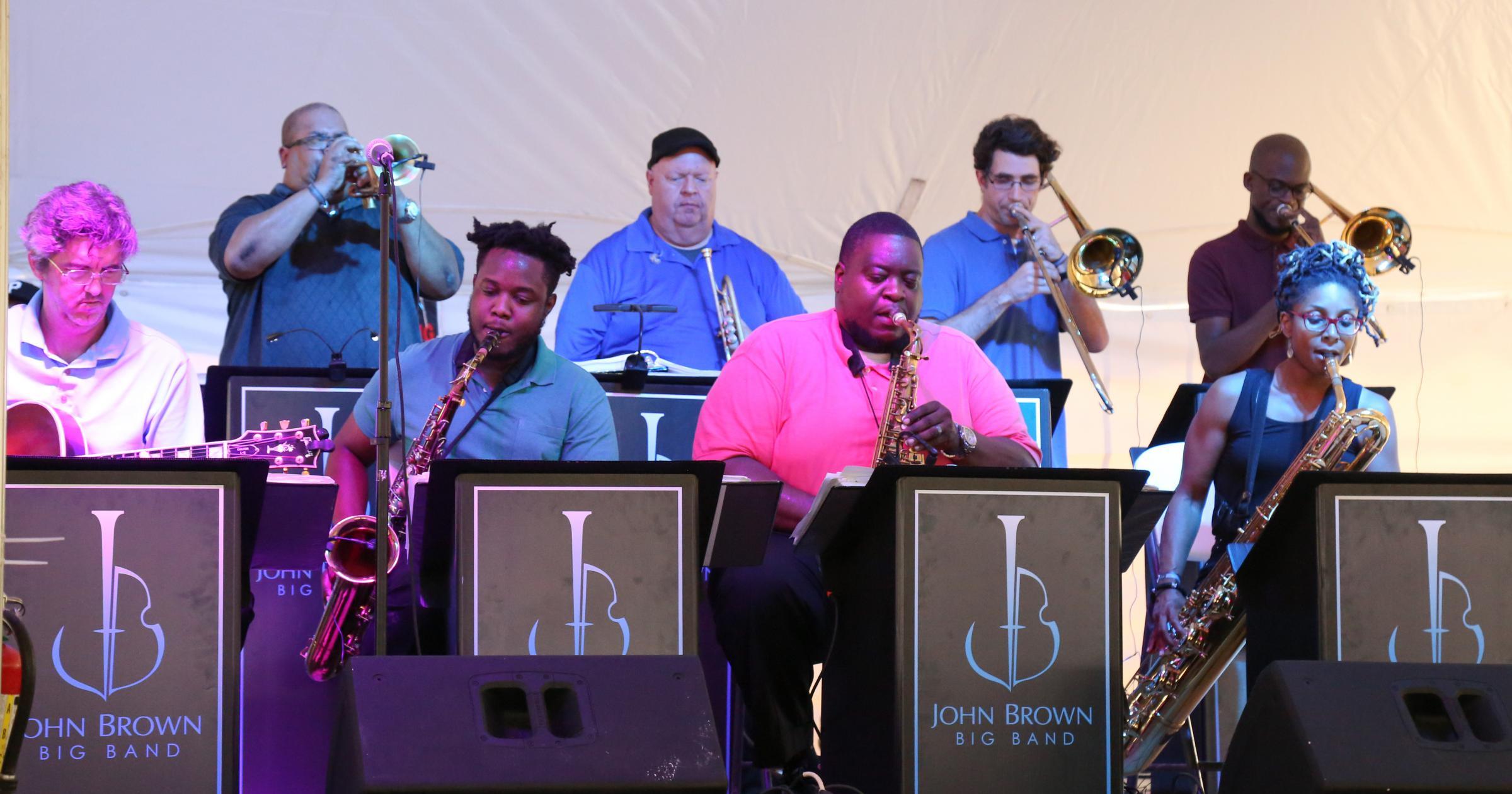 John Brown Big Band performing at Ocean City Jazz 2019