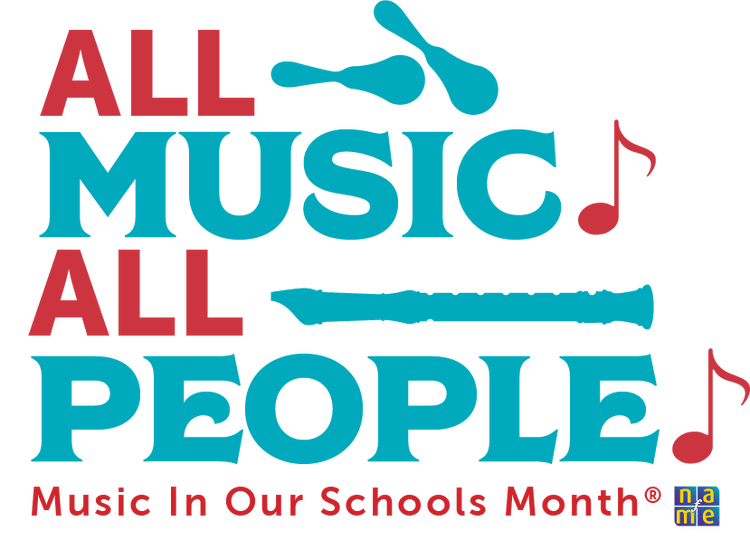 All Music All People: Music in Our Schools Month Logo