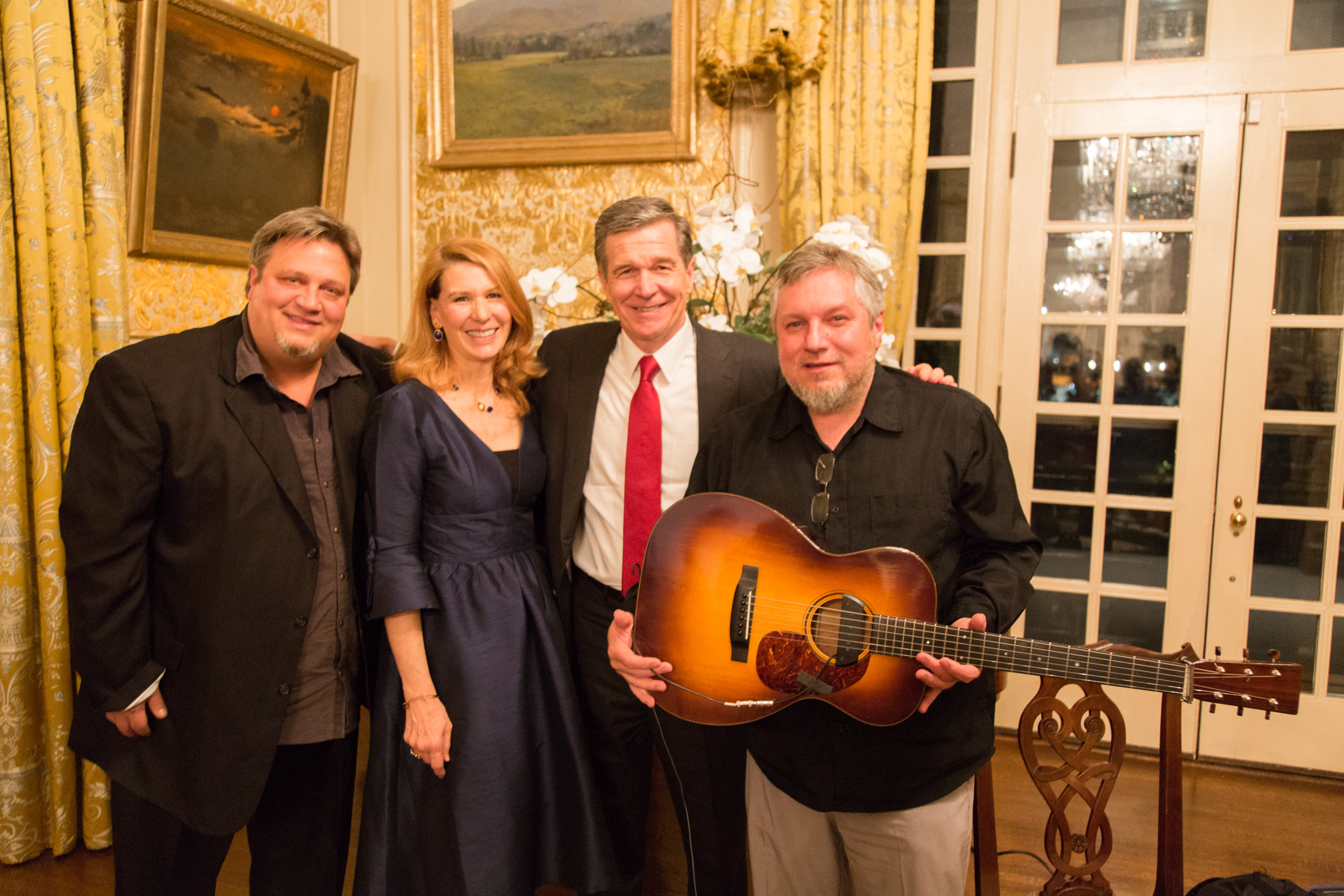 The Harris Brothers with Governor Roy Cooper and First Lady Kristin Cooper