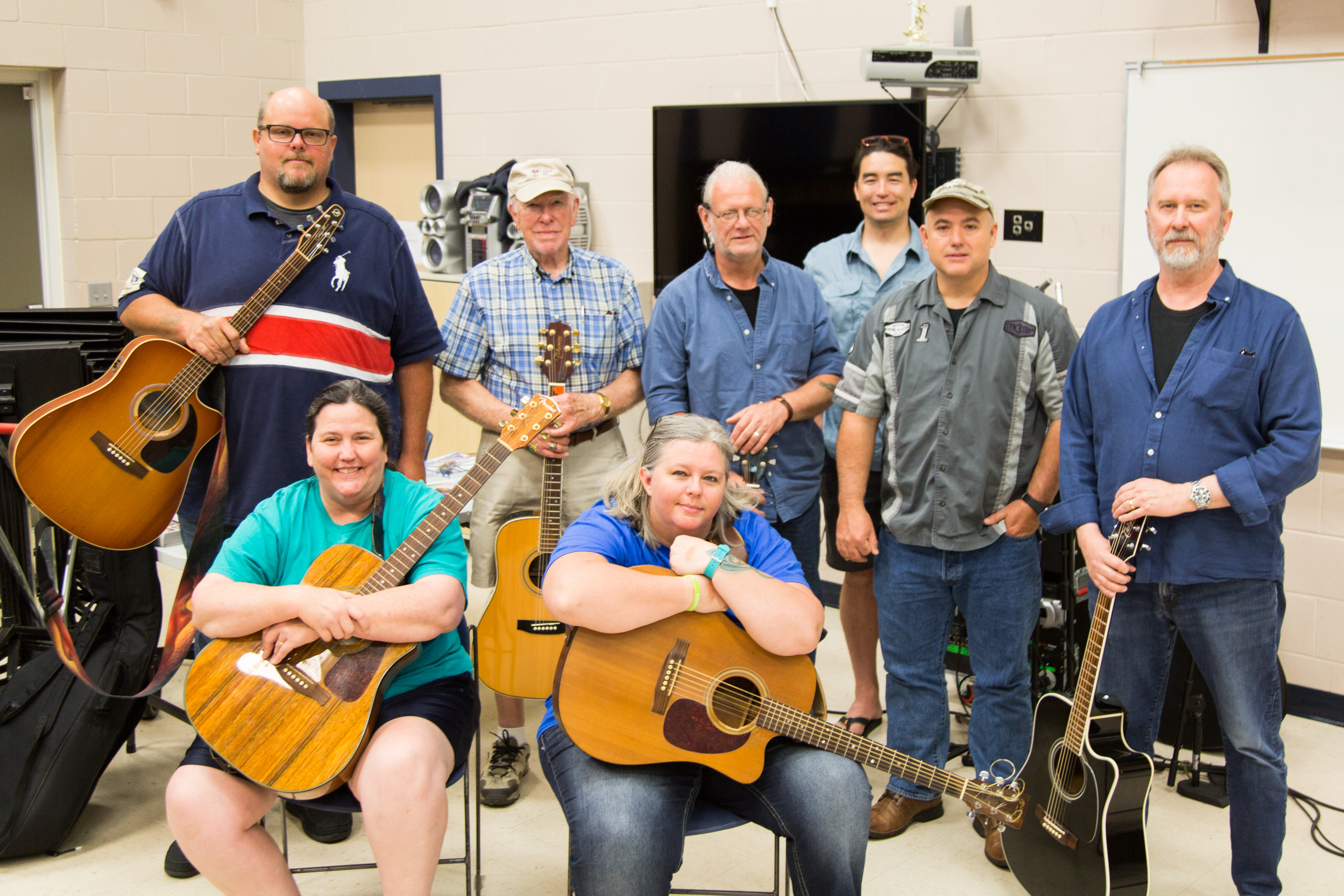 Group photograph of the 2019 N.C. Veterans Songwriting Workshop