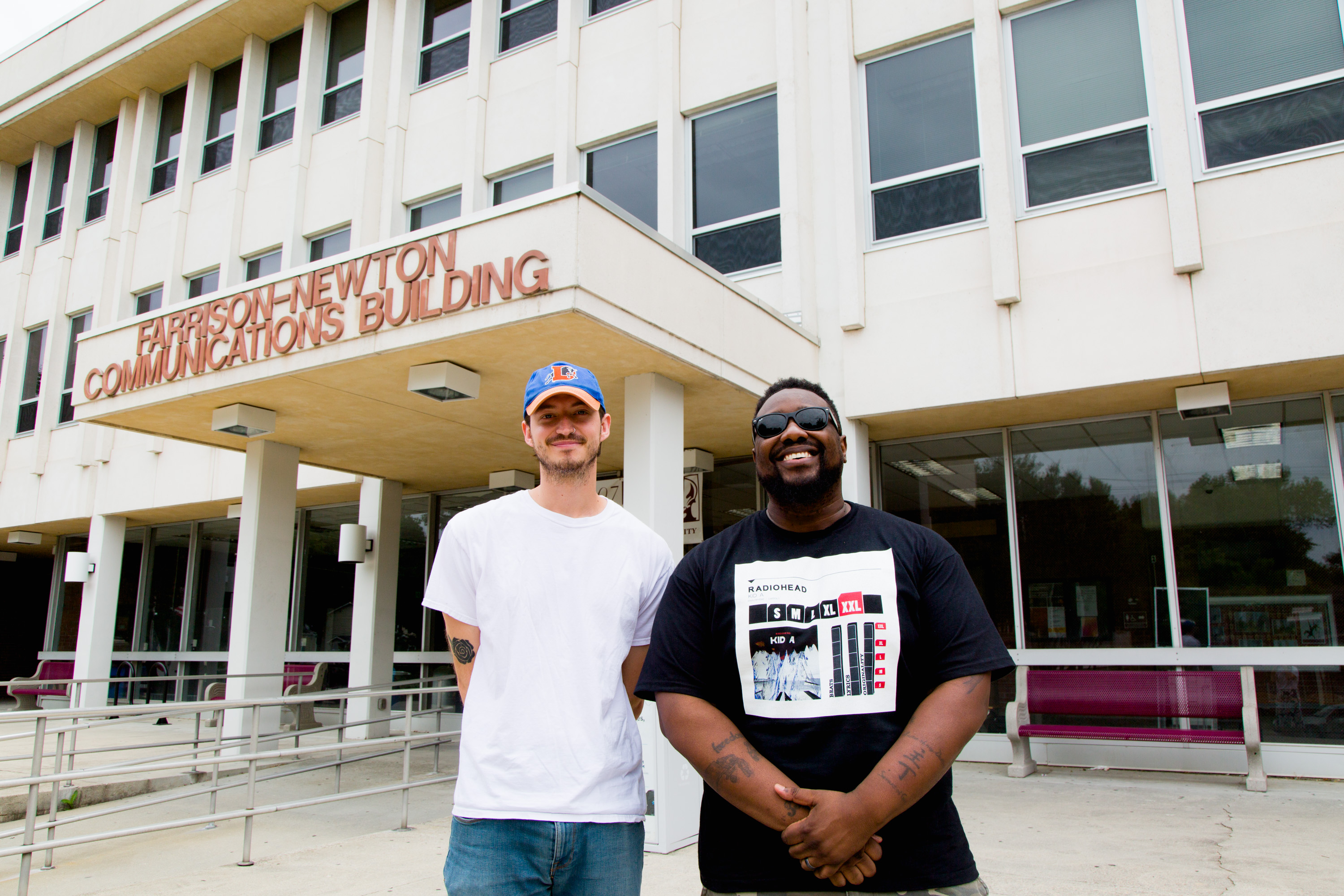 Phonte Coleman and HOlland Gallagher at NC Central University