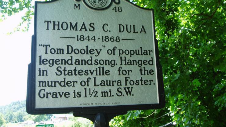 Tom Dula Highway Marker