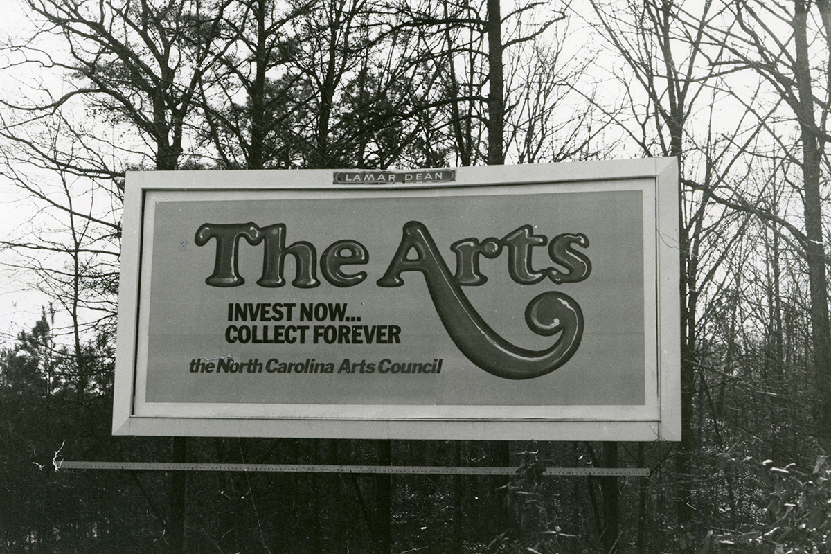 NC Arts Council Billboard