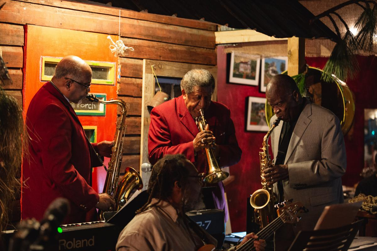 Bill Myers, Dick Knight and Maceo Parker performing at Da Loft