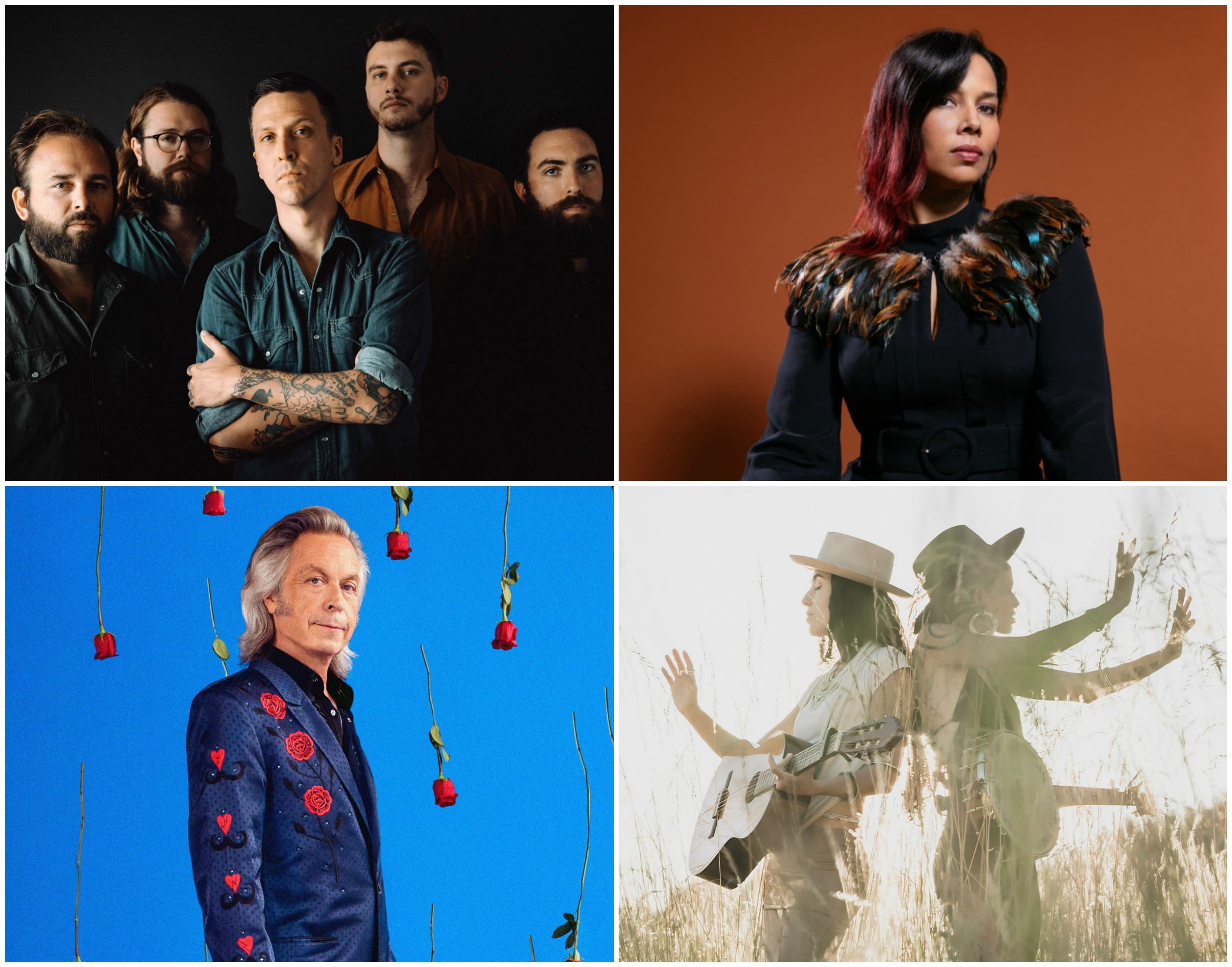 Clockwise from top left: American Aquarium, Rhiannon Giddens, Rising Appalachia, Jim Lauderdale