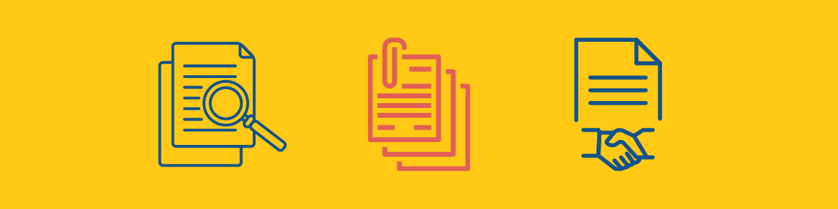 complete your grant contract & documentation icons