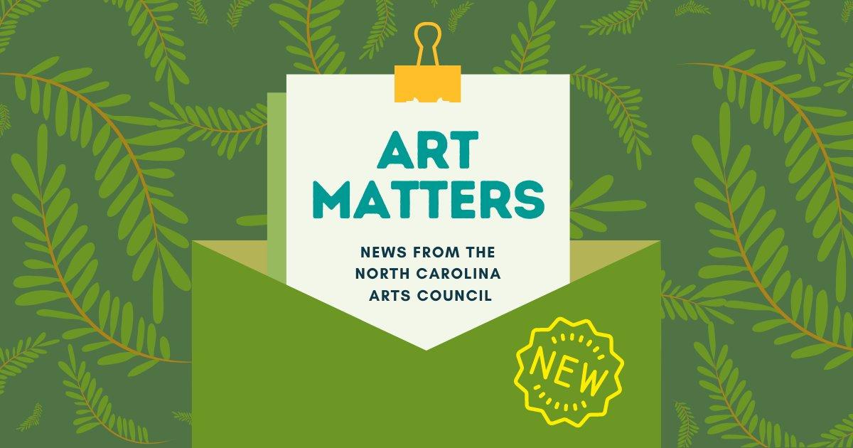 图表显示艺术很重要:来自北卡罗莱纳州艺术委员会的新闻
