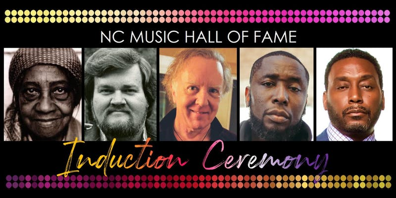 North Carolina Music Hall of Fame 2019 Inductees banner