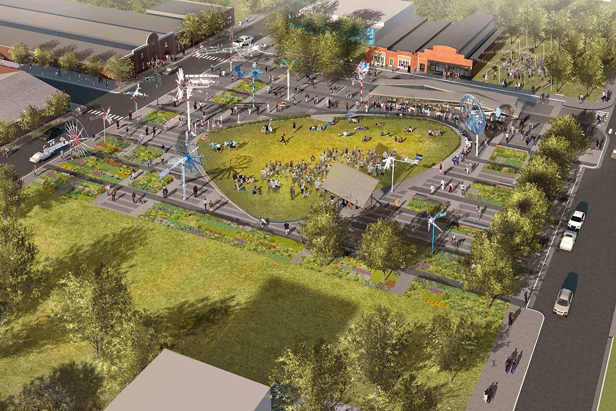 Digital rendering of the Whirligig Park