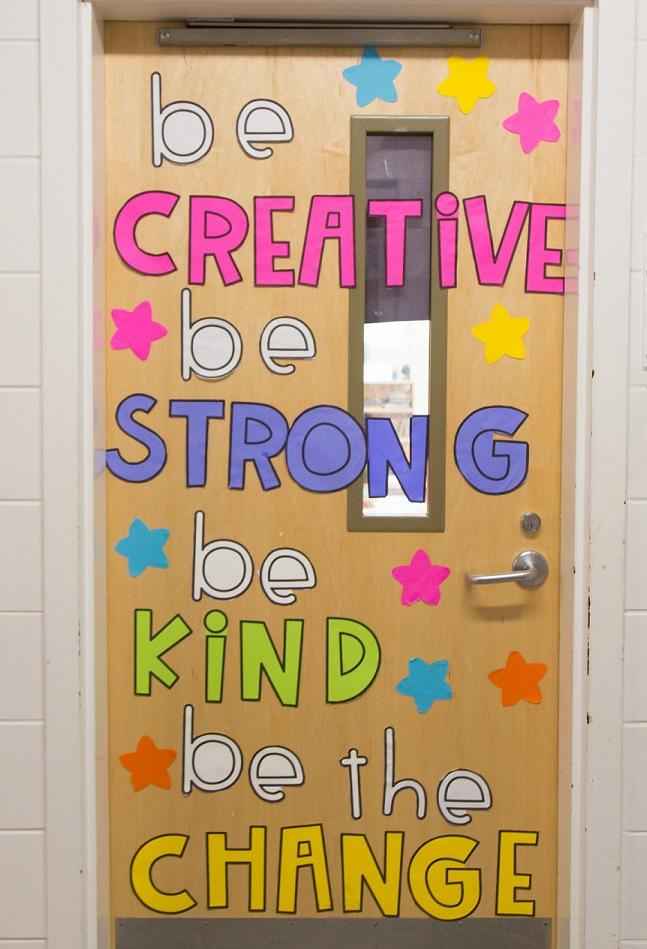 Classroom door - Be Creative