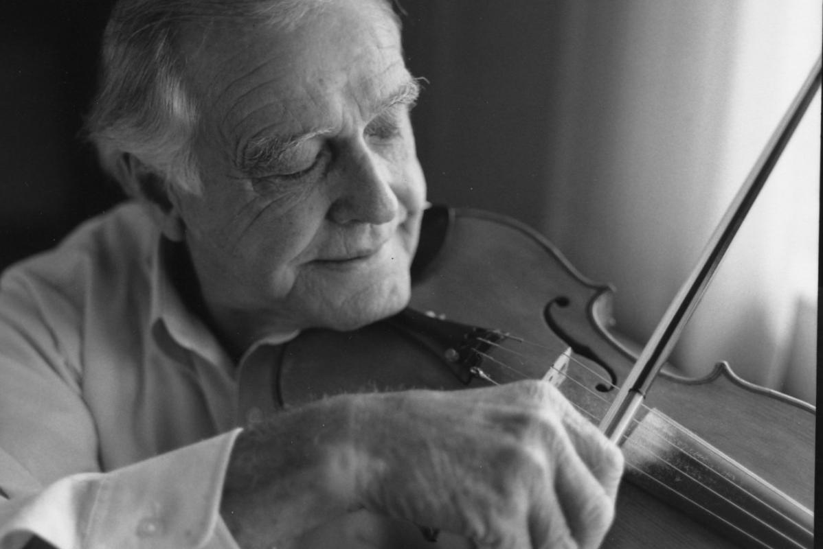 Jim Shumate with his fiddle   Photo Credit: Cedric N. Chatterley