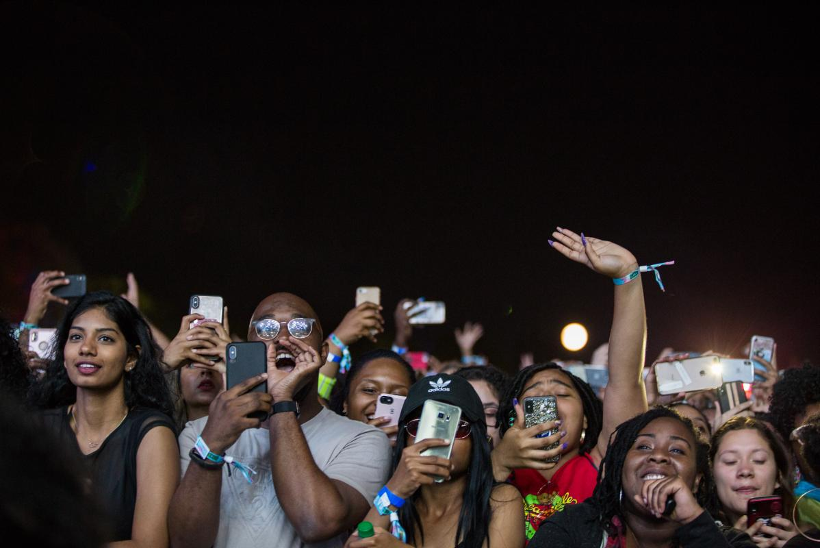 A crowd shot from Dreamville Festival in Raleigh, April 2019