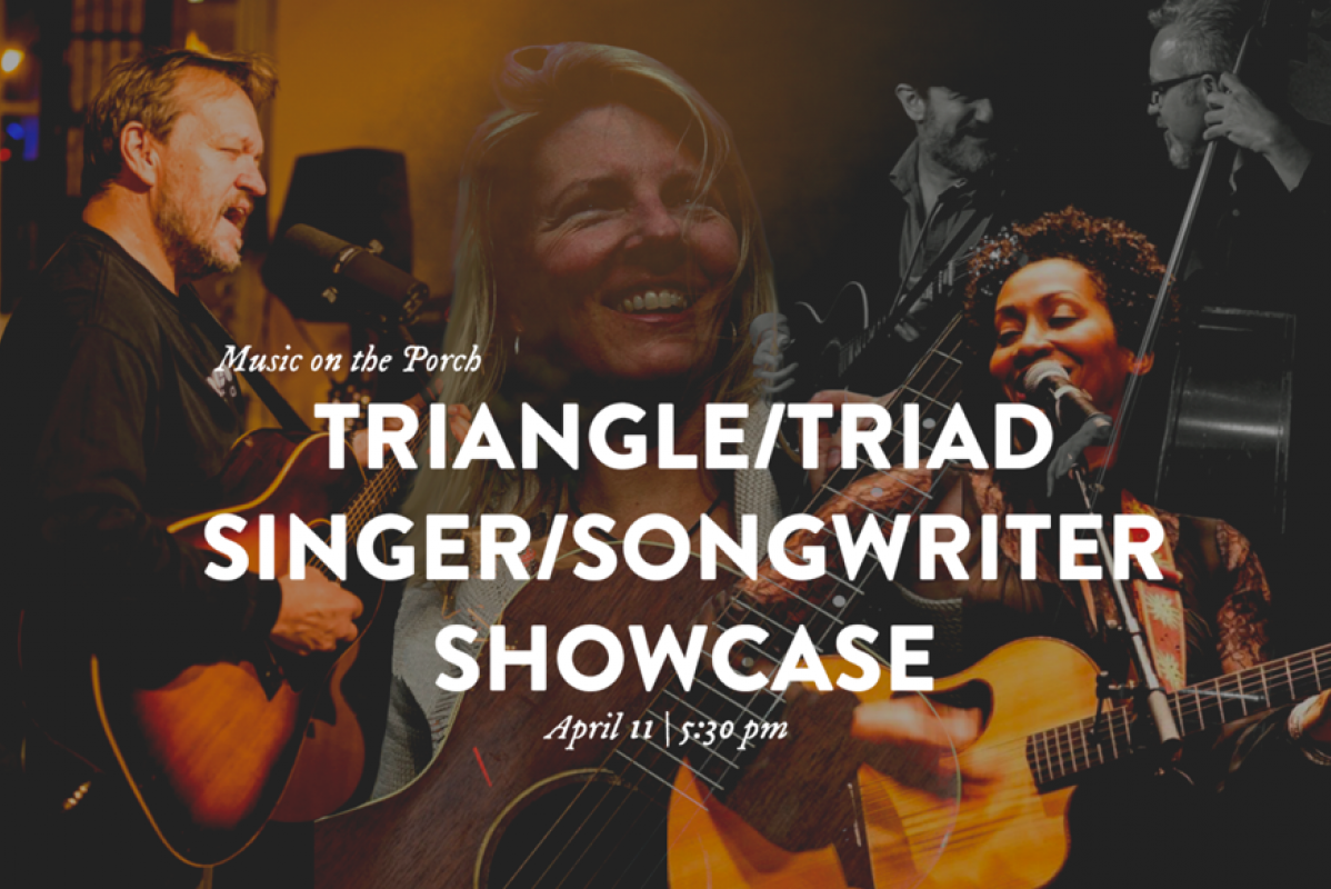 Music on the Porch Triangle/Triad Singer/Songwriter Showcase Graphic