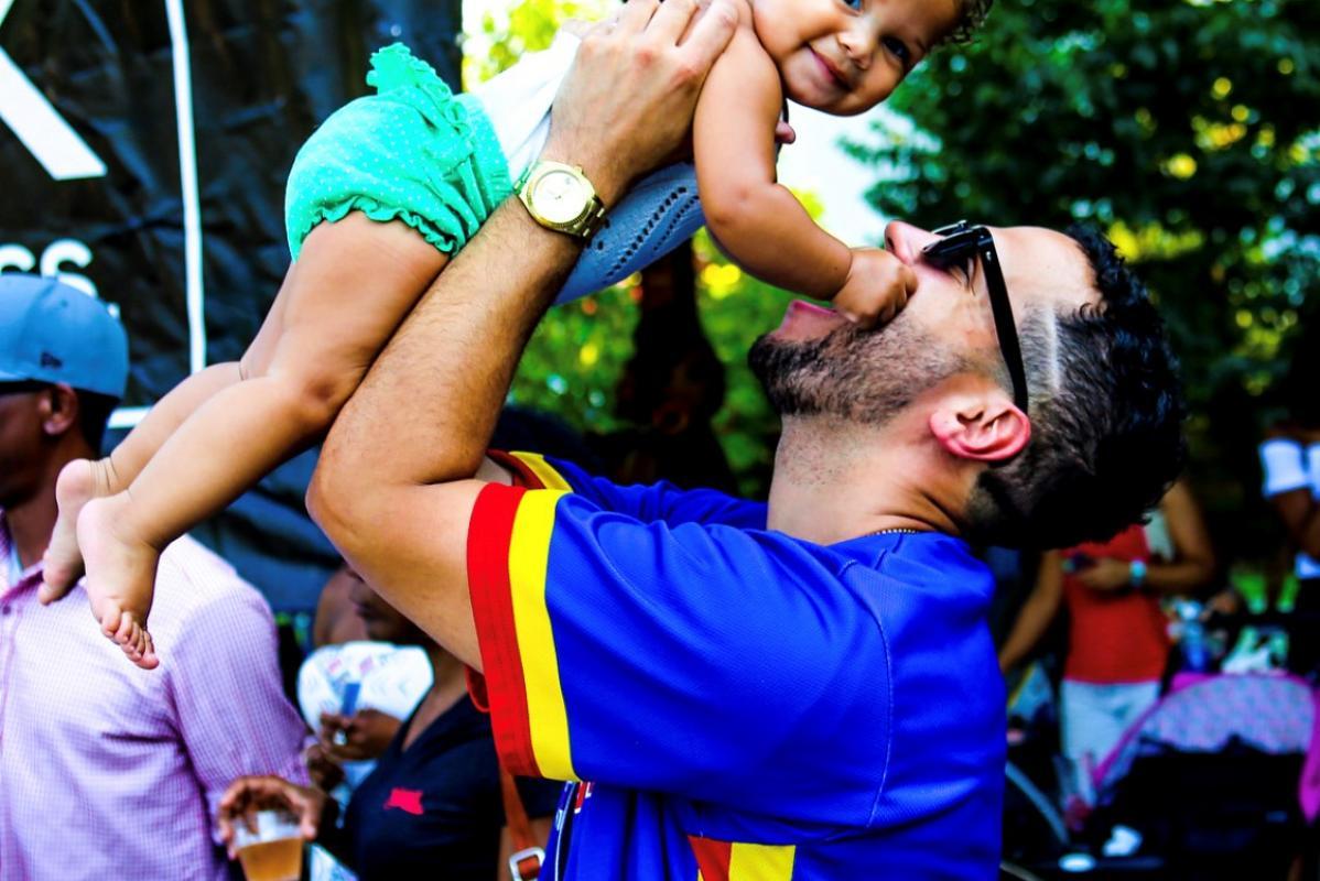Joshua Gunn with his daughter, Harlem-Rose Amanda