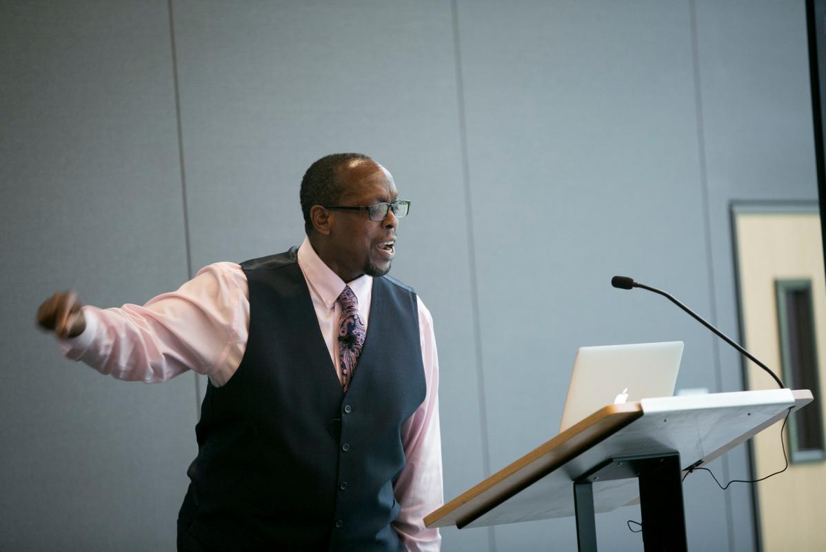 Professor Mark Anthony Neal of Duke University Lecturing
