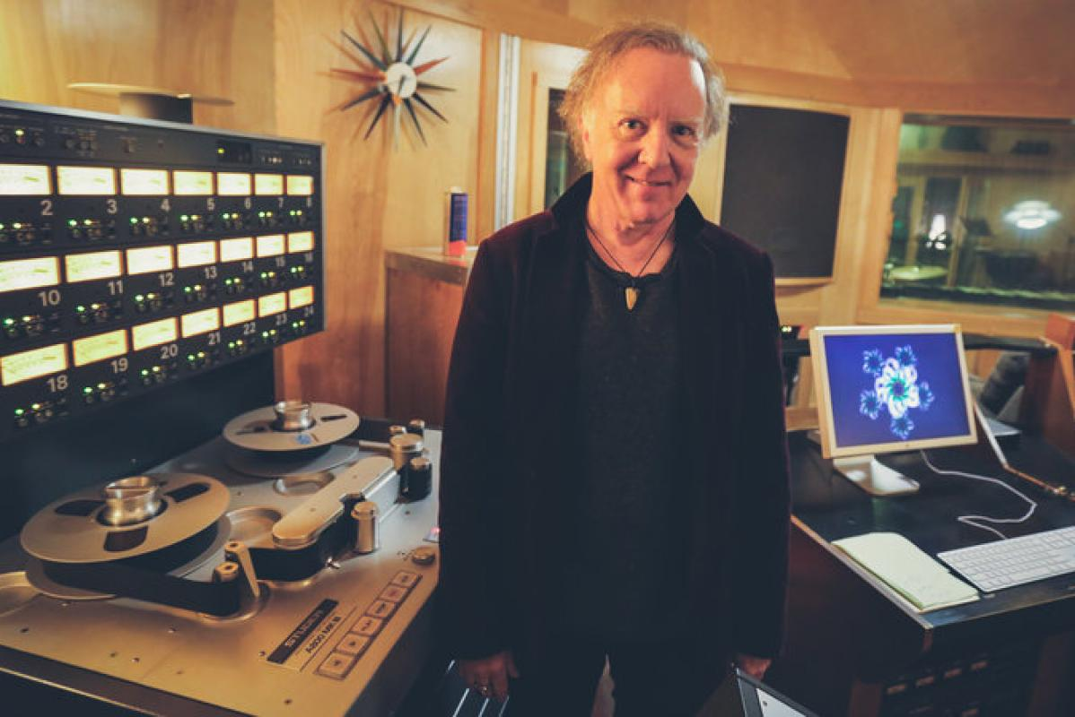 Mitch Easter in studio