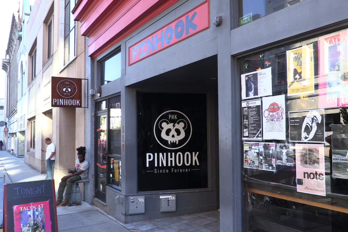 The front entrance to The Pinhook in Durham