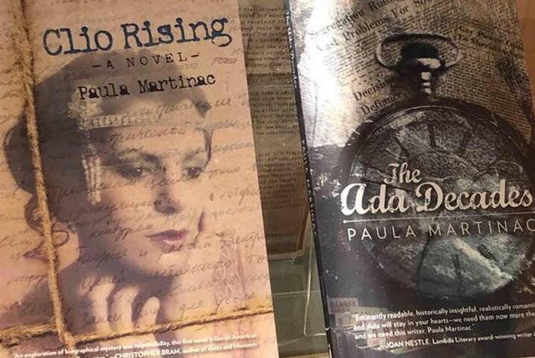 Paula Martinac book covers in English department