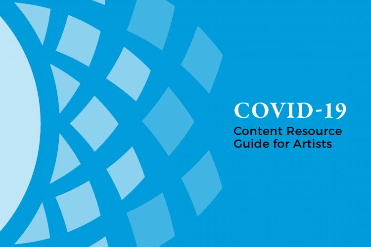 Content Resource Guide for Artists - basketweave motif over blue background