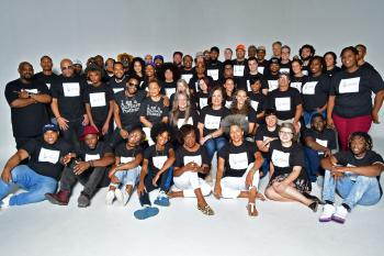 Group Photograph of musicians who performed on Artists United to End Poverty Album