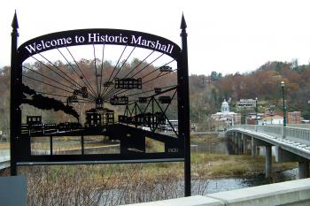 Marshall NC from across the French Broad River