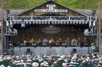 Doc and Merle Watson Theatre Stage at Merlefest