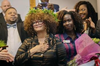 Jaki Shelton Green at her 2019 induction ceremony