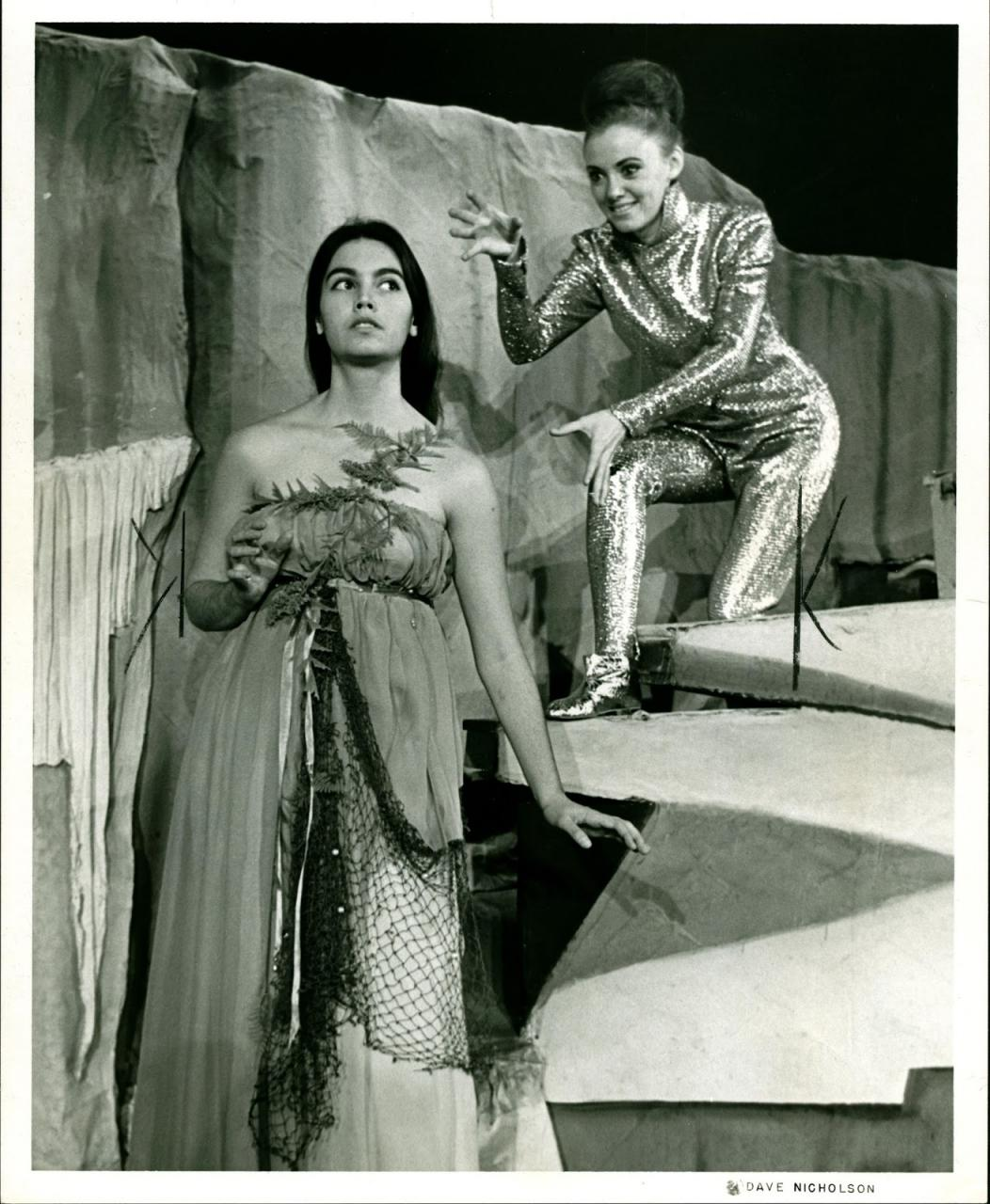 Emmylou Harris (foreground) in The Tempest, 1965 (photo courtesy UNC Greensboro)