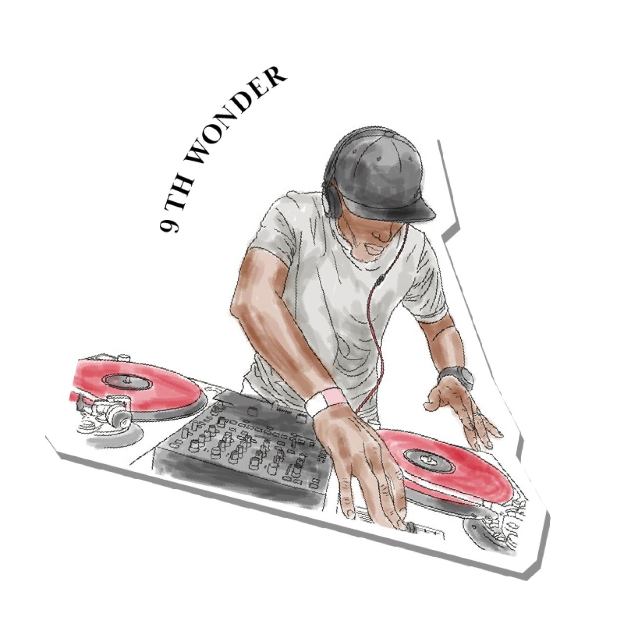 An illustration of 9th Wonder