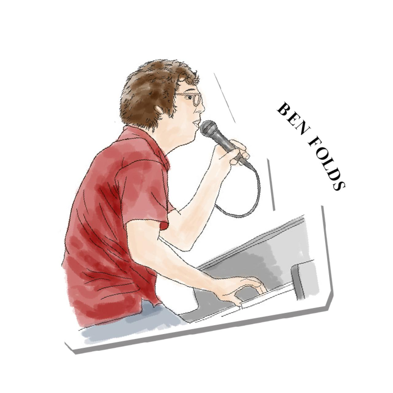 An illustration of Ben Folds