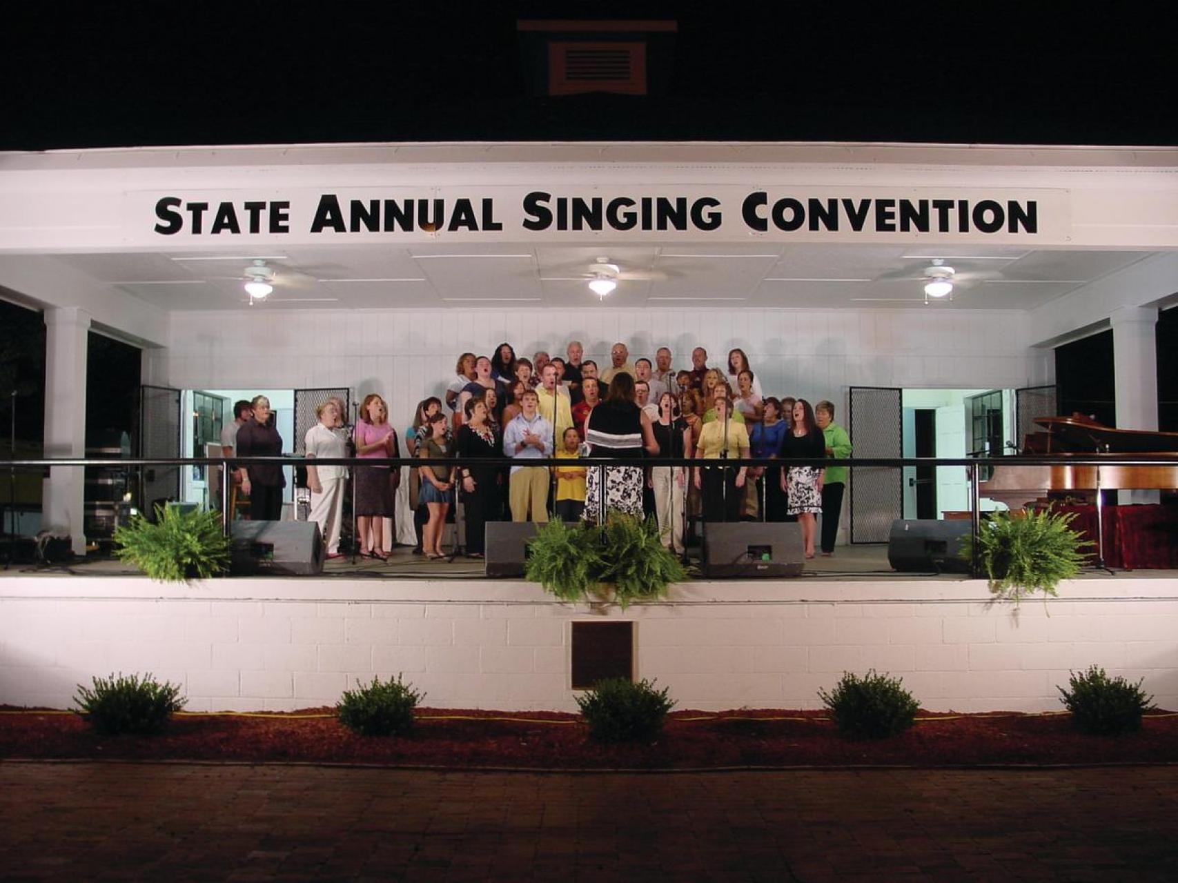 A group performing at the Annual State Singing Convention