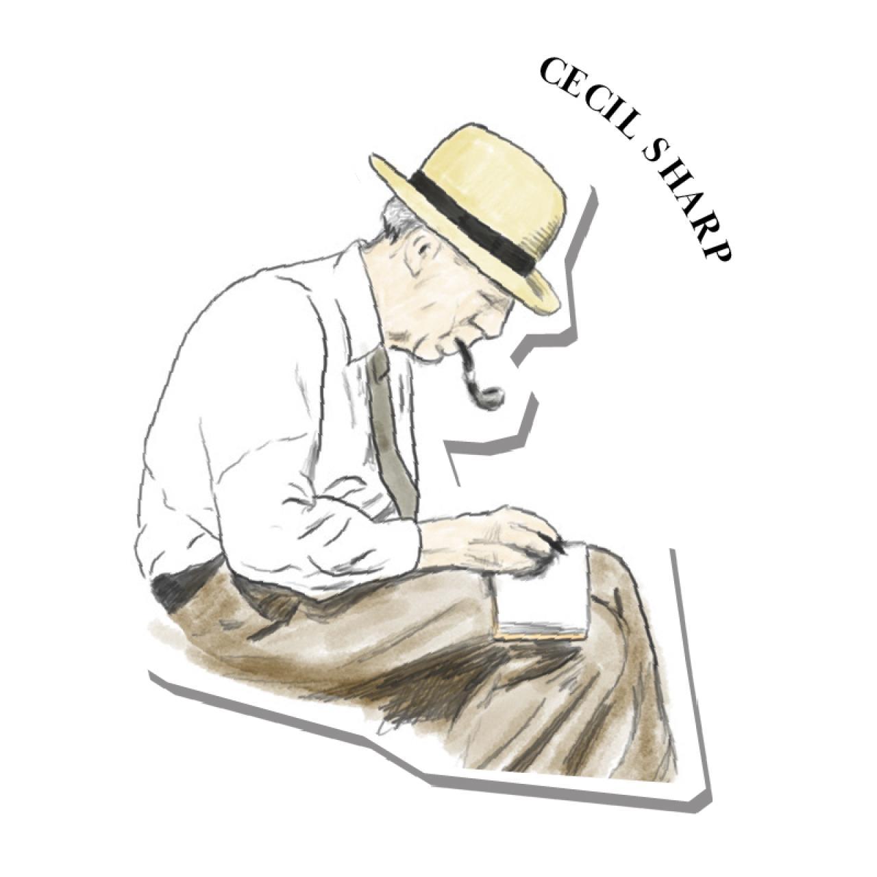 An illustration of Cecil Sharp
