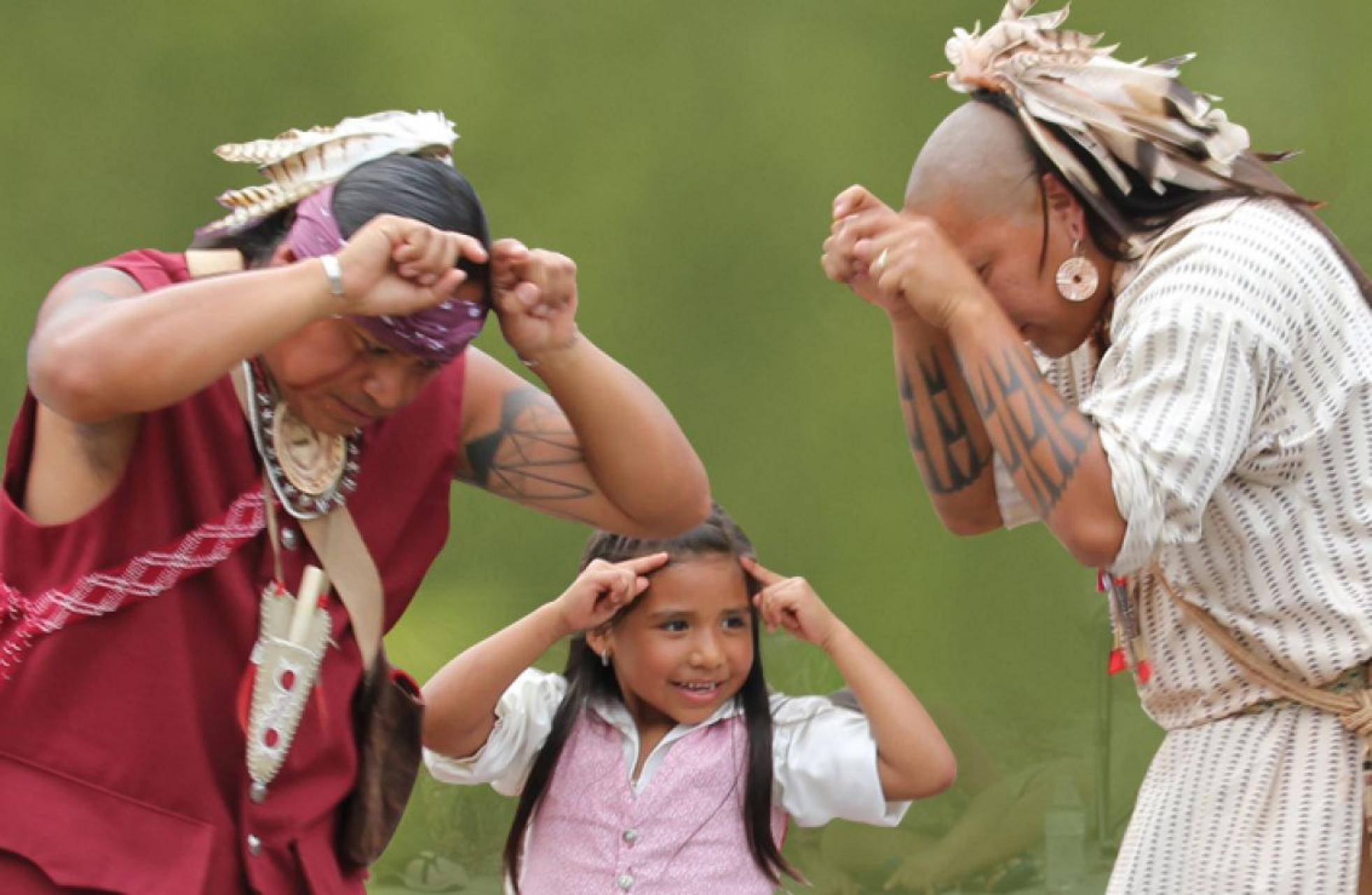 Dances being performed at the Cherokee Voices Festival