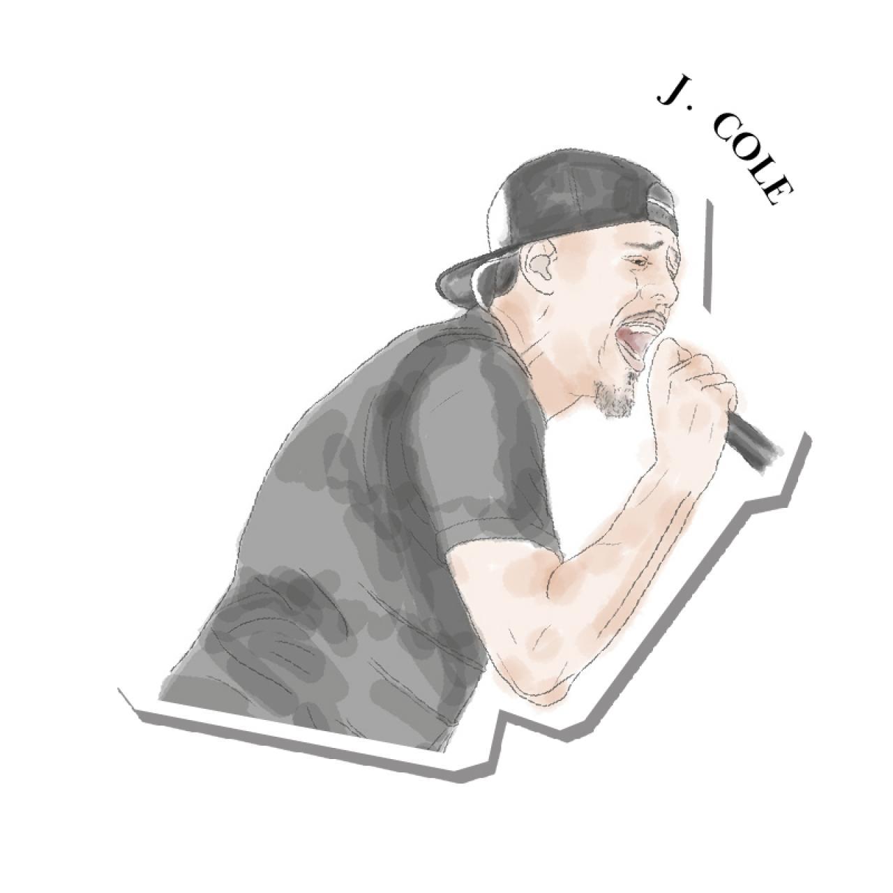 An illustration of J. Cole
