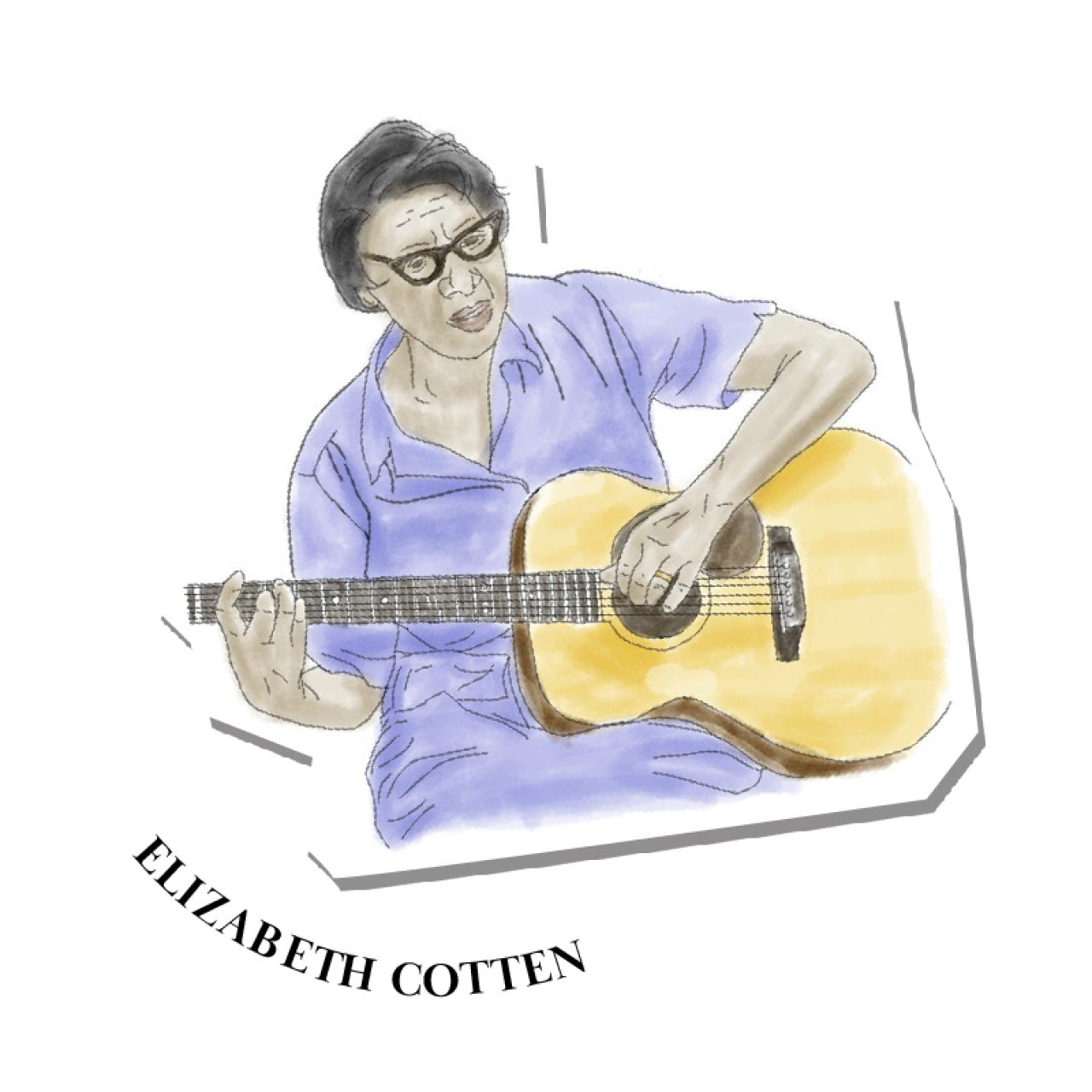 """An illustration of Elizabeth """"Libba"""" Cotten"""