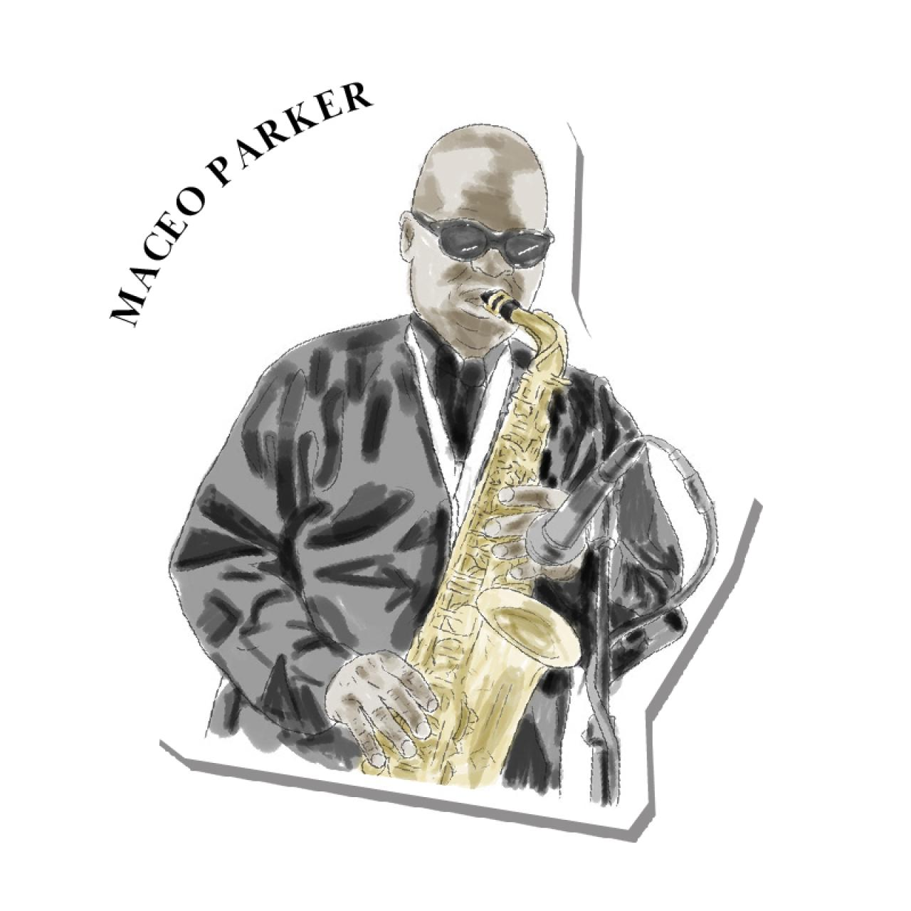 An illustration of Maceo Parker
