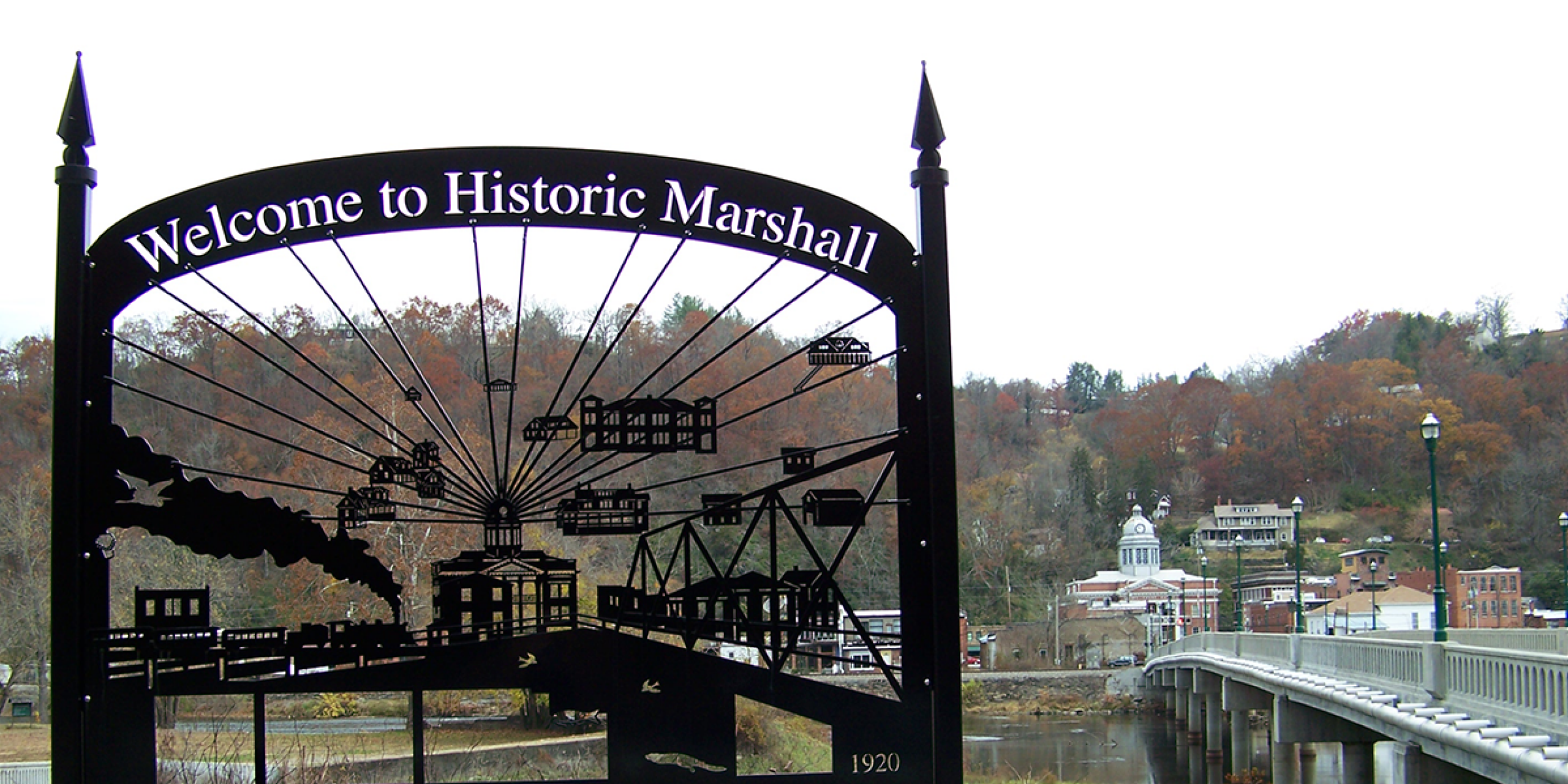 A view of Marshall, N.C. from across the French Broad River.