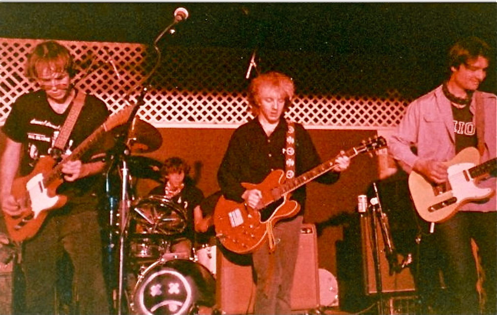 Mitch Easter (center) performing with the dB's at the Cat's Cradle. | Photo courtesy: http://dbs-repercussion.blogspot.com