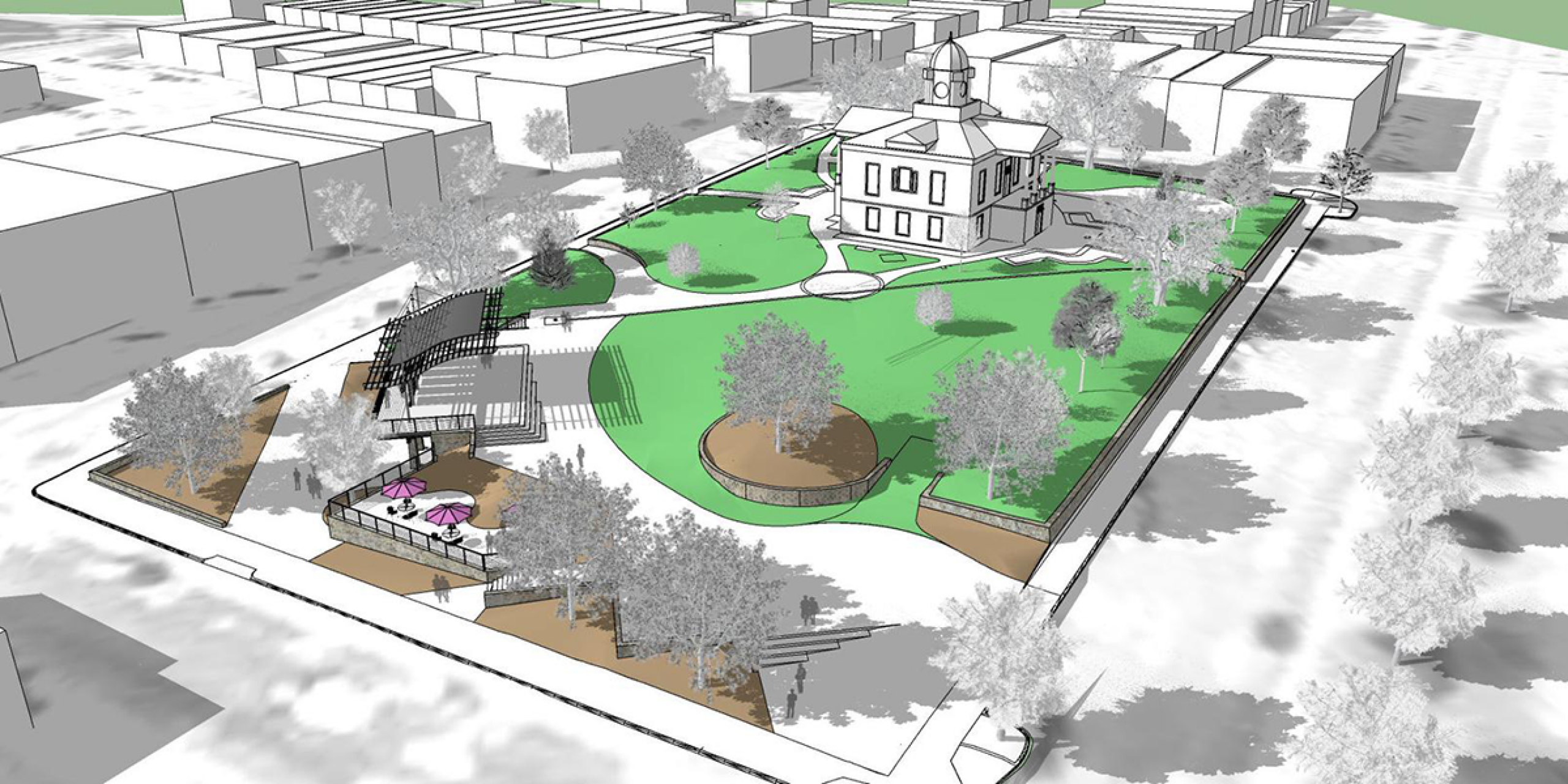Rendering of Courthouse Square courtesy of Stimmel Associates, P.A. and Stitch Design Shop